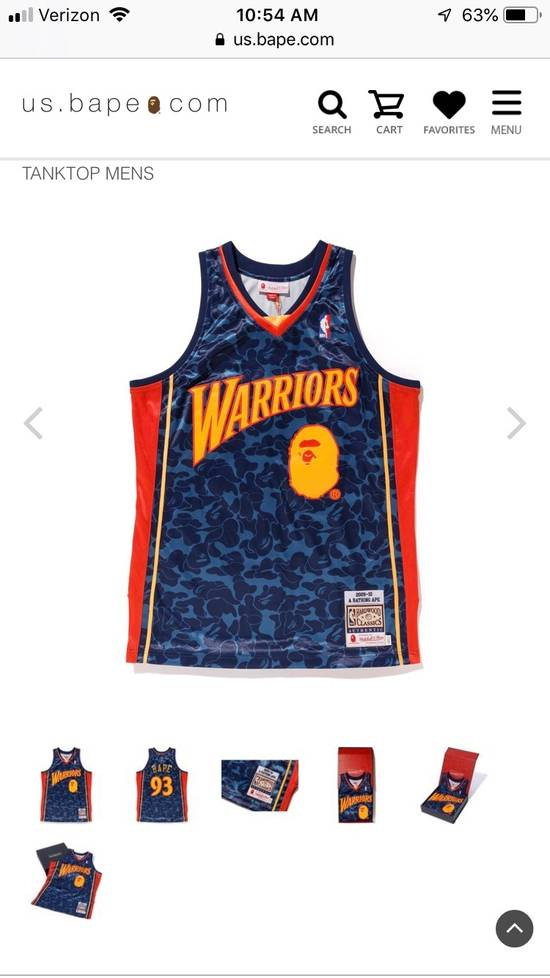 hot sale online df396 49057 Golden State Warriors A Bathing Ape Authentic Jersey
