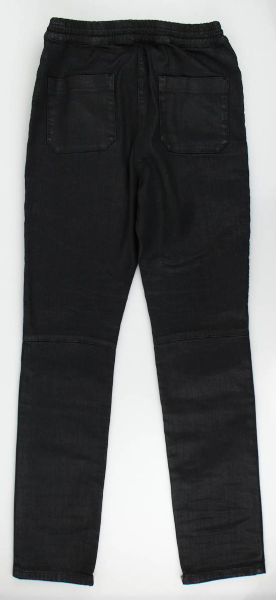 Balmain Black Cotton Blend Waxed Distressed Casual Pants Size Small Size US 32 / EU 48 - 1