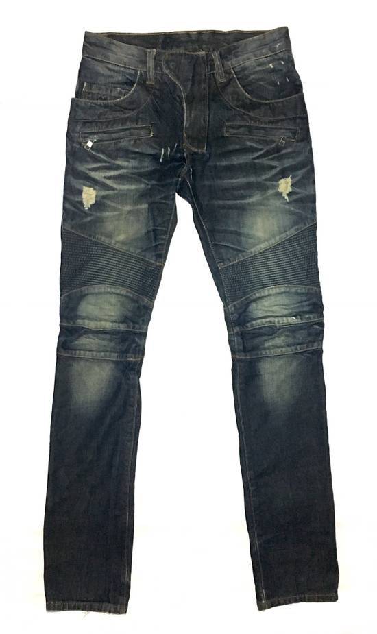 Balmain BALMAIN DISTRESSED BIKER JEANS. REFERENCE MODEL T511-B317 Size US 30 / EU 46