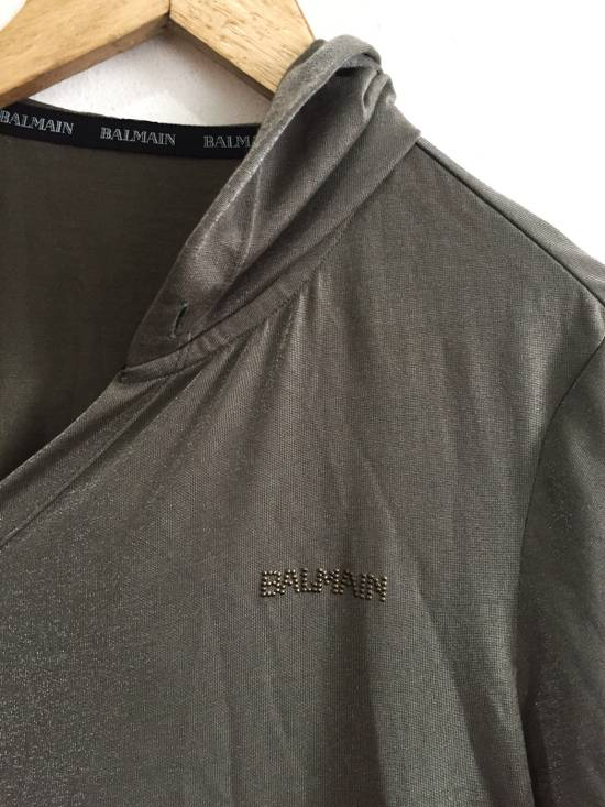 Balmain [ LAST DROP ! ] Authentic Silk Rayon Spell Out Unbuttoned Hoodie Size US M / EU 48-50 / 2