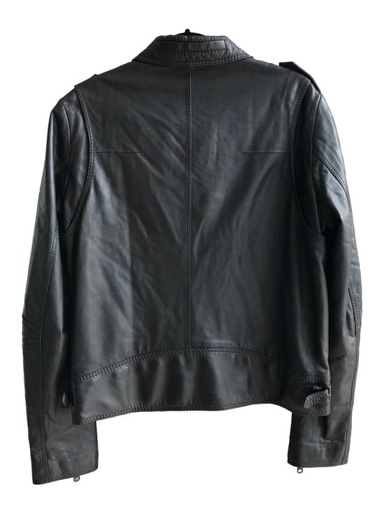 Dior AW05 Dior Homme 'L-Zip' Leather Motorcycle Biker Jacket Sz 50 Size US M / EU 48-50 / 2 - 3