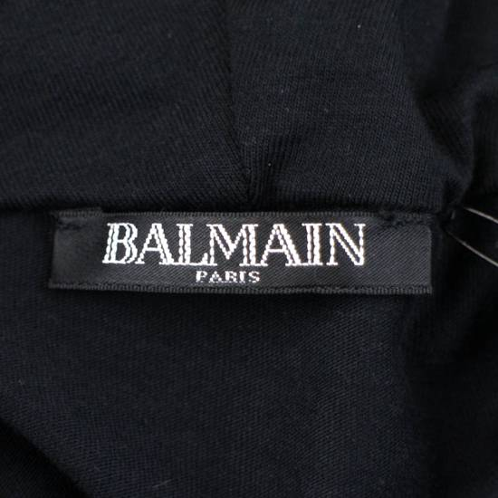 Balmain Black Cotton Shoulder Detail Hoodie Sweatshirt Shirt L Size US L / EU 52-54 / 3 - 6