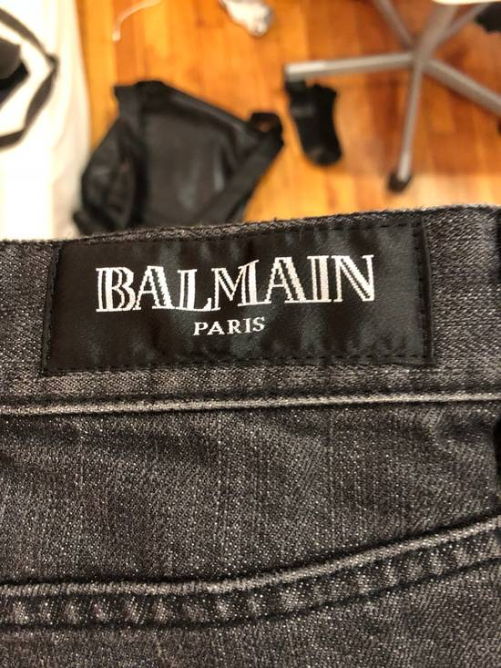 Balmain Balmain Oliver Era Biker Jeans In A Wash Grey Size US 29 - 2