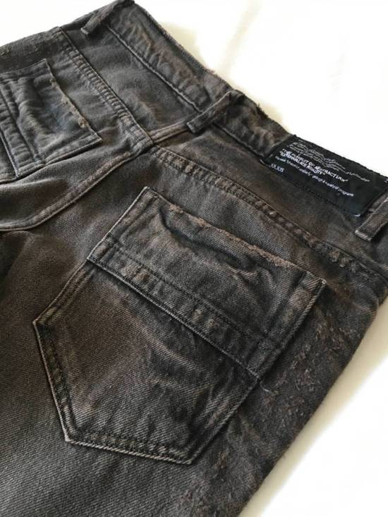 Julius Japan made cropped wrinkle and dirt effect distressed frayed hem Jeans Size US 28 / EU 44 - 15