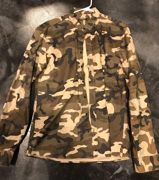 Balmain BALMAIN PARIS Camo Dress Shirt Size US L / EU 52-54 / 3