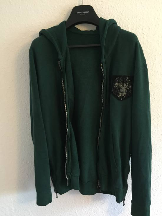 Balmain SS12 Forest Green Badge Hoodie size Large Size US L / EU 52-54 / 3