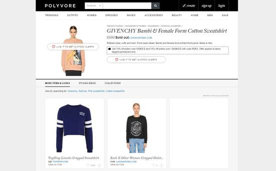 Givenchy Pink Bambi Sweater Size US S / EU 44-46 / 1 - 7
