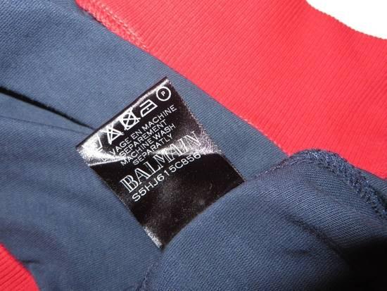 Balmain Panelled cotton biker hoodie Size US XS / EU 42 / 0 - 6