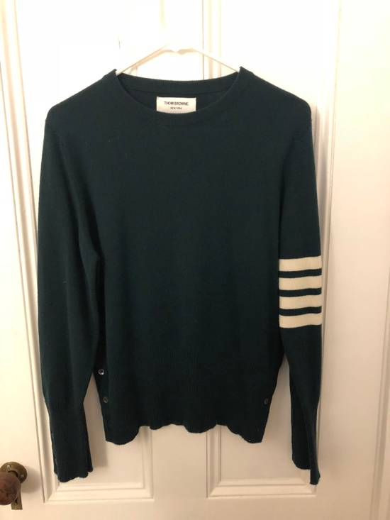 Thom Browne Thom Browne Green Cashmere Pullover Size 2 Size US S / EU 44-46 / 1