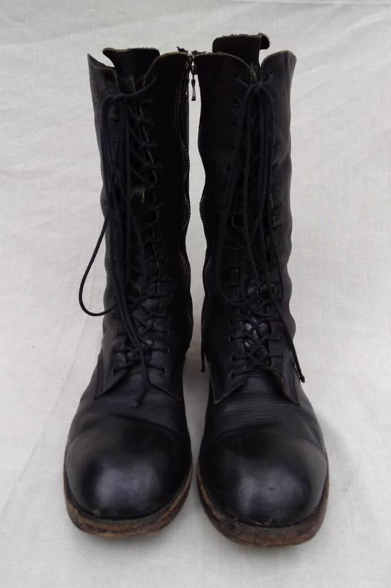 Julius f/w09 Tall Combat Boots Black Size US 11 / EU 44 - 2