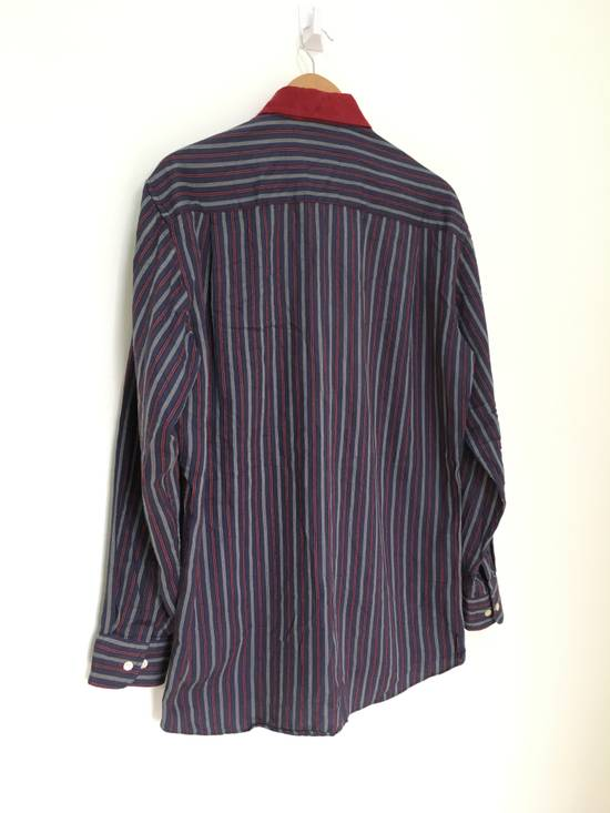 Givenchy Gentleman Givenchy Indigo Red Stripes Casual Shirt Made in Italy Size US M / EU 48-50 / 2 - 7