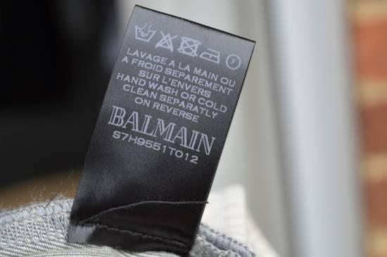 Balmain Grey Distressed Biker Jeans Size US 27 - 6