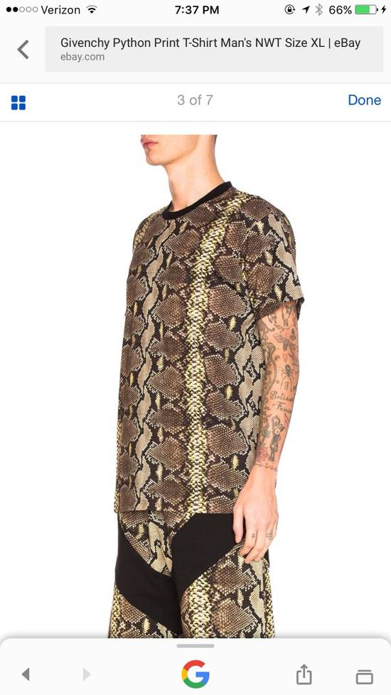 Givenchy Snakeskin Print Cotton T-Shirt Size US XL / EU 56 / 4 - 15