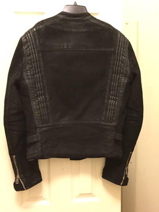 Balmain RARE Waxed Moleskin Biker Jacket Size US L / EU 52-54 / 3 - 4