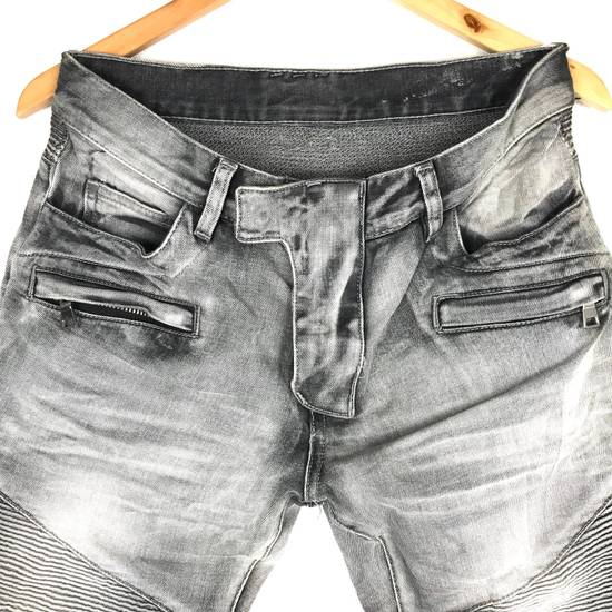 Balmain Rare! Distressed Balmain Biker Denim Jean Trouser Skinny Luxury Designer Size US 32 / EU 48 - 6
