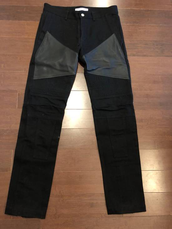 Givenchy Givenchy Leather Panel Black Jeans Size US 30 / EU 46