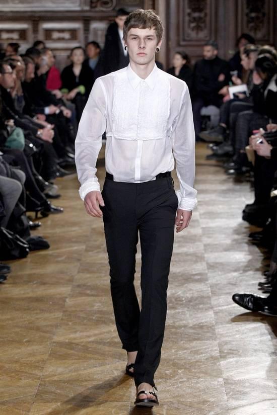 Givenchy Givenchy Tuxedo Shirt by Riccardo Tisci 2010 Runway Tuxedo Shirt (brand new) Size US S / EU 44-46 / 1 - 7