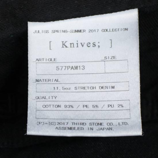 Julius 7 Black Cotton Blend 'Stretch Denim' Jeans Pants Size 4/L Size US 36 / EU 52 - 4