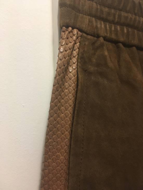 Balmain SS13 Python Leather Biker Pants Size US 30 / EU 46 - 4