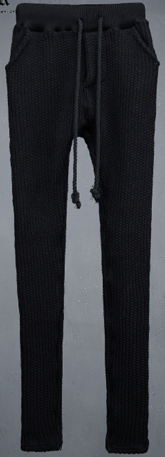 Julius Byther - black julius knit pants - like thom krom, boris bidjan saberi, silent damir doma, rick owens Size US 32 / EU 48 - 6