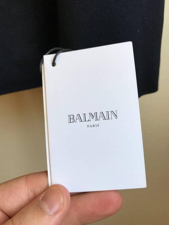 Balmain Slim Fit Cotton Navy Blazer Size 44R - 5
