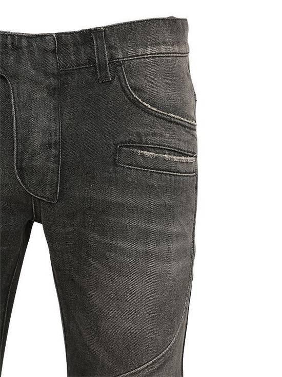 Balmain Balmain Washed Cotton Denim Black Biker $990 Authentic Jeans Size 31 New Size US 31 - 3
