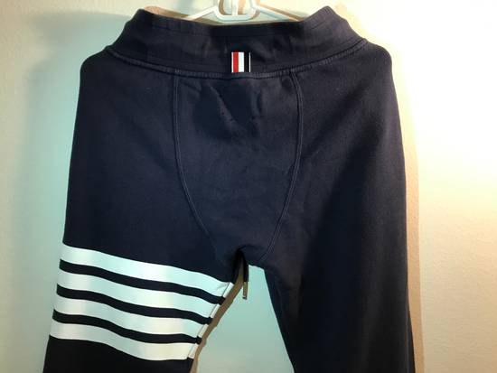 Thom Browne CLASSIC SWEATPANTS Navy WITH 4-BAR UNIVERSITY STRIPES Size US 30 / EU 46 - 6