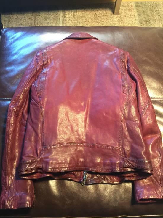 Balmain Lambskin Burgundy Biker Jacket Size US L / EU 52-54 / 3 - 3