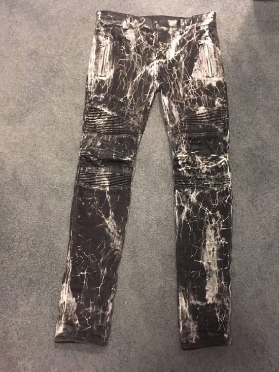 Balmain Balmain Marble Print Skinny Jeans Size US 29