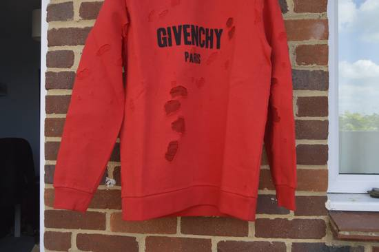 Givenchy Red Destroyed Logo Hoodie Size US S / EU 44-46 / 1 - 4