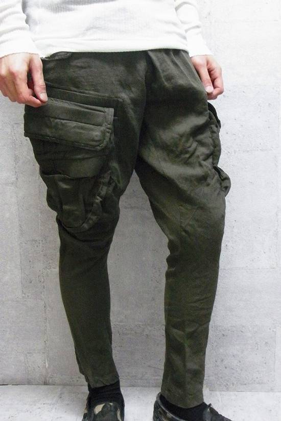 Julius Green Linen Blend Gas Mask Cargo Pants Size US 30 / EU 46 - 13