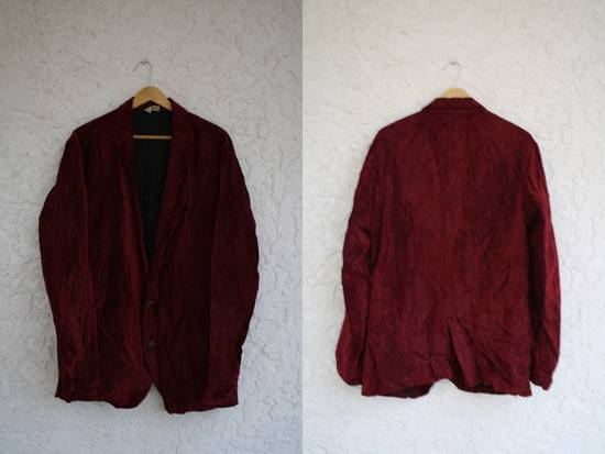 Julius Last Drop: AW03 Blood Red Velvet Blazer Size US M / EU 48-50 / 2