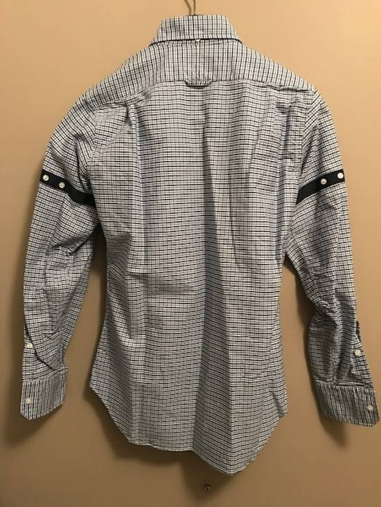 Thom Browne Blue Gingham Shirt with Grosgrain Arm Bands NEW Size US L / EU 52-54 / 3 - 6