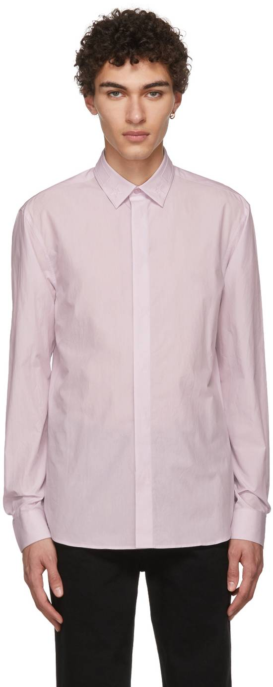 Givenchy Pale Pink Stars on Collar Shirt Size US L / EU 52-54 / 3 - 1