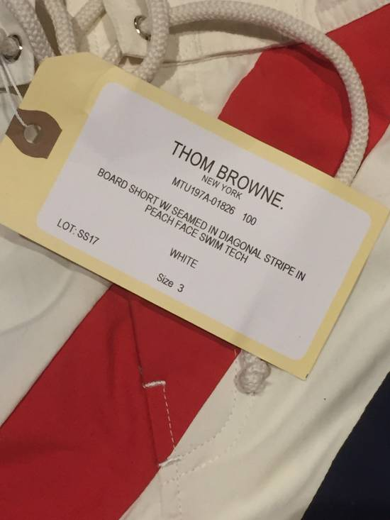 Thom Browne Need Gone NWT Off White Board Shorts Diagonal Stripe Size 3 Size US 32 / EU 48 - 3