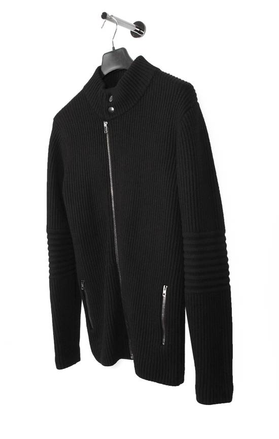 Givenchy Original Givenchy Full Zip Heavy Wool Black Men Biker Style Sweater in size L Size US L / EU 52-54 / 3 - 1