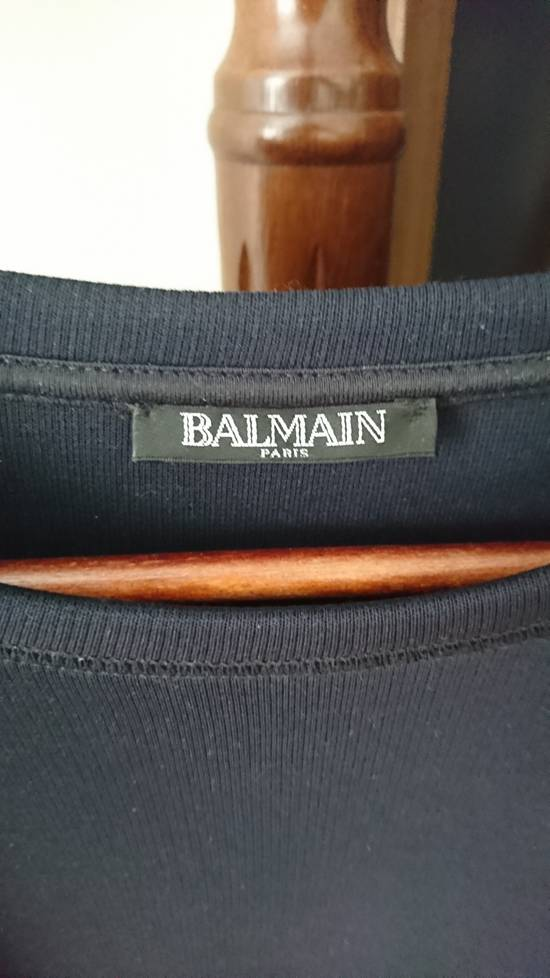 Balmain Navy sweater with elbow biker patches with silver shoulder buttons Size US M / EU 48-50 / 2 - 1