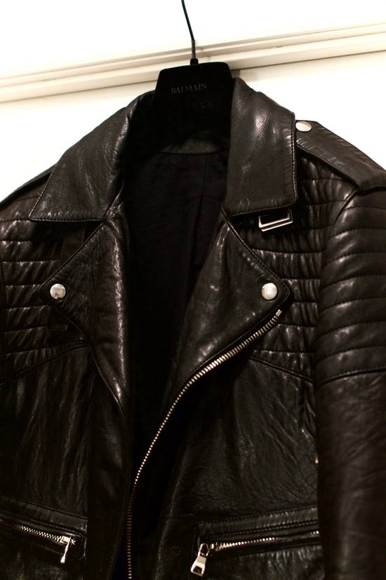 Balmain RARE! Lambskin Leather Biker Jacket Size US L / EU 52-54 / 3 - 2