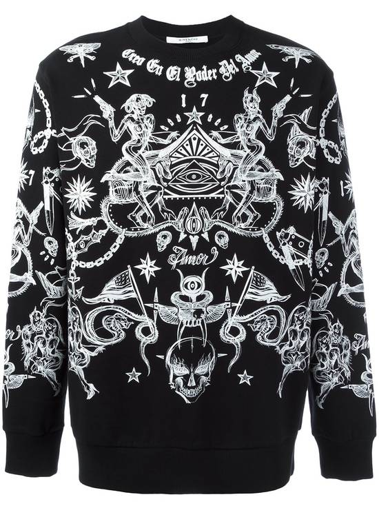 Givenchy Tattoo Print Sweater Size US L / EU 52-54 / 3 - 1