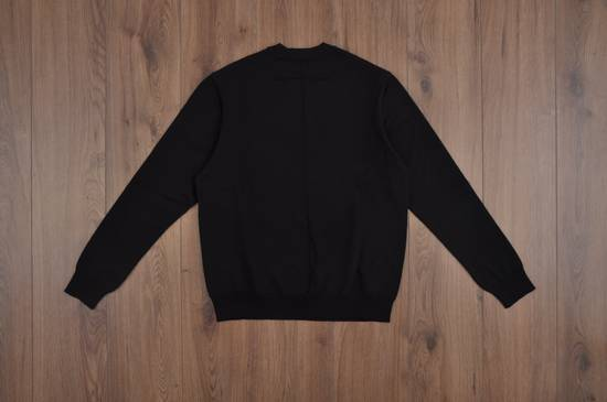 Givenchy Black Wool Knit Sweater With Red 'Eye of Providence' on front Size US L / EU 52-54 / 3 - 5