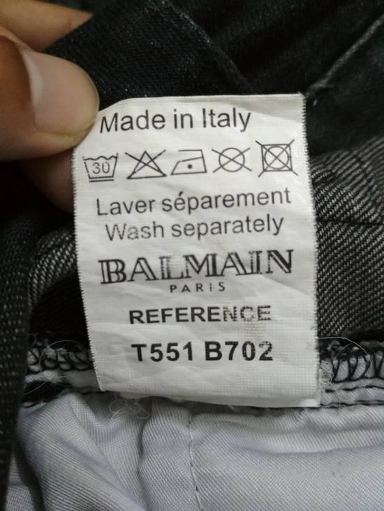 Balmain Authentic BALMAIN Dark Grey Slim Biker Stretch Denim Jeans Made in Italy Size US 32 / EU 48 - 15