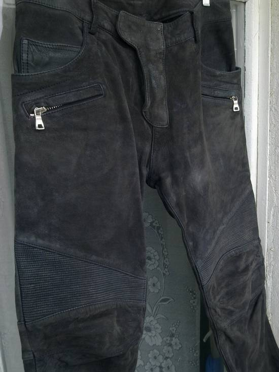 Balmain Balmain Dark Grey Leather pants Size US 31 - 1