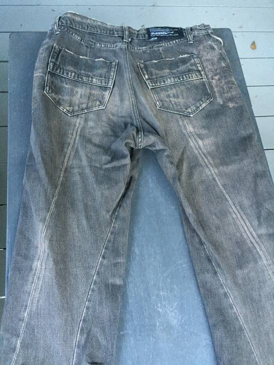 Julius SS09 Black/Brown Twisted Leg Denim Size US 32 / EU 48 - 8