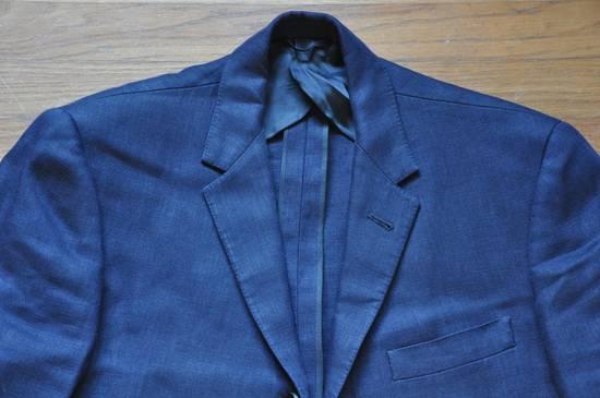 Thom Browne Navy Linen Blazer Size 40R - 2