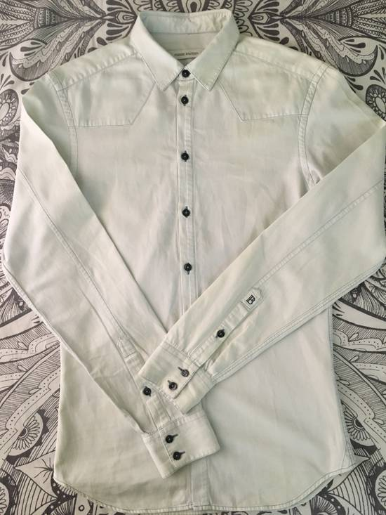 Balmain Bleached out Button Down Denim Shirt Size US S / EU 44-46 / 1