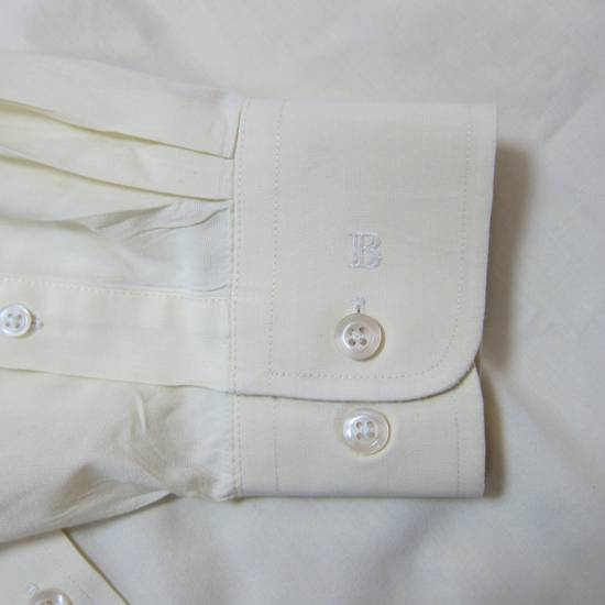 Balmain Balmain Paris 16 1/2/42 80% Cotton 20% Polyester Made in Hong Kong Light Yellow Long Sleeve Front Pocket Button Up Shirt Size US L / EU 52-54 / 3 - 3