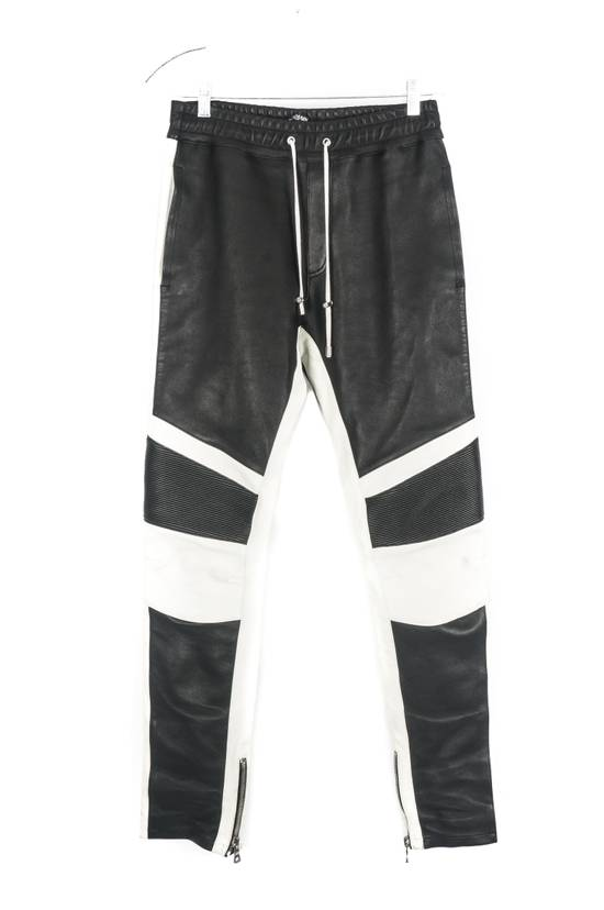 Balmain Balmain Black and White Leather Pants Size US 30 / EU 46