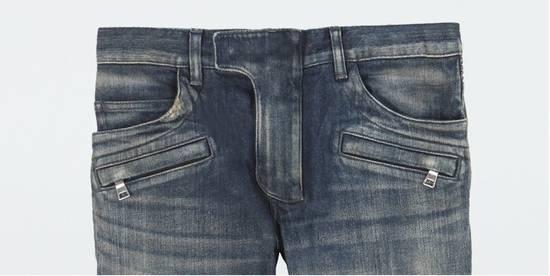 Balmain Classic Blue Denim BIKER RARE Jeans Size US 28 / EU 44 - 1
