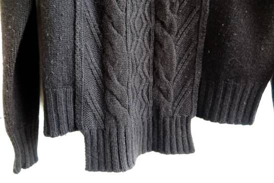 Givenchy GIVENCHY BLACK CASHMERE WOOL CABLE KNIT SWEATER Size US S / EU 44-46 / 1 - 1