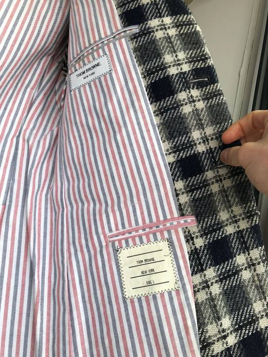 Thom Browne Navy/Grey Plaid Sportcoat Jacket Size 1 Size 38R - 3